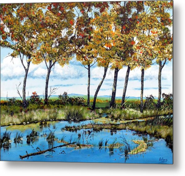 Dawn's Blue Waters Edge  Metal Print