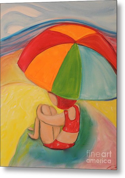 Day At The Beach Metal Print by Teresa Hutto