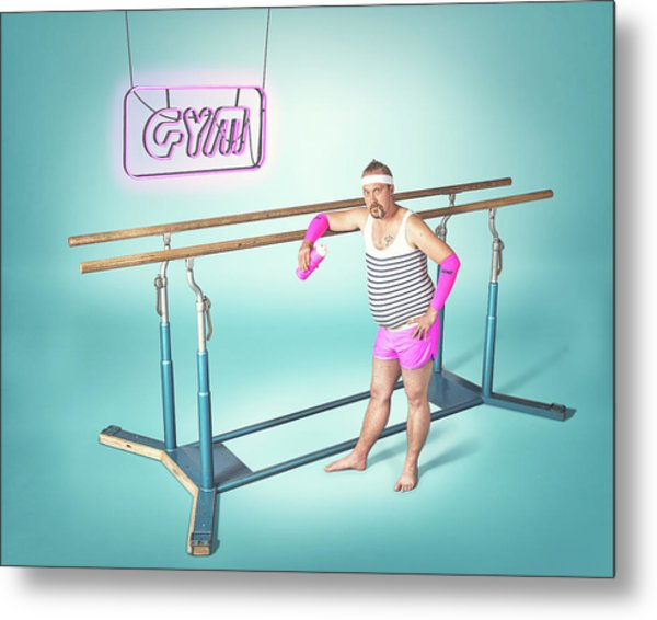 Day At The Gym Metal Print