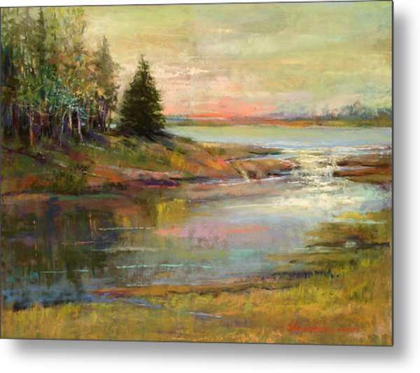 Day Ending Metal Print by Beverly Amundson