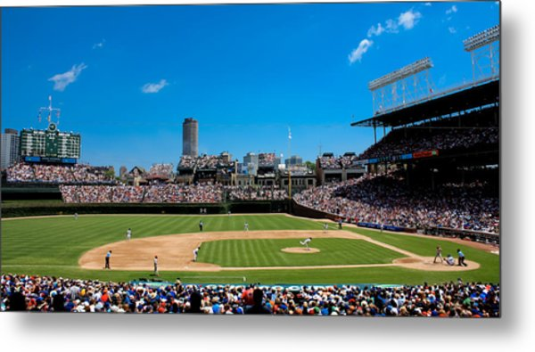 Day Game At Wrigley Field Metal Print