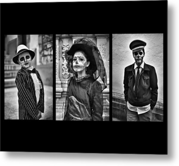 Day Of The Dead Triptych Metal Print by David Brommer