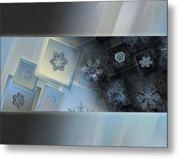 Snowflake Collage - Daybreak Metal Print