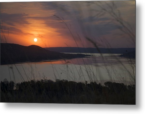 Daybreak On Glen Lake Metal Print