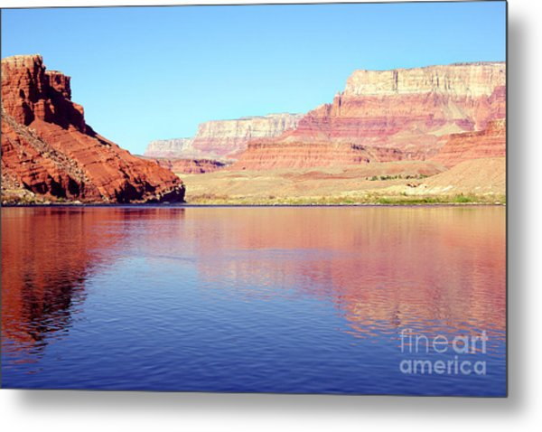 Daybreak - Vermillion Cliffs And Colorado River Metal Print by Douglas Taylor