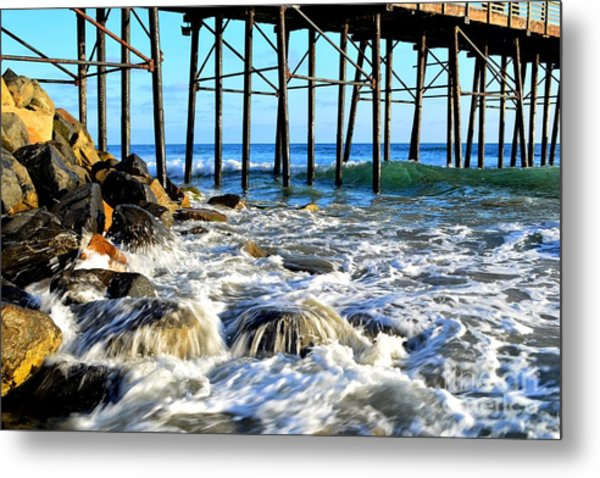 Daydreaming At The Pier Metal Print