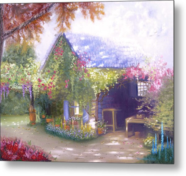 Daylesford Cottage Metal Print