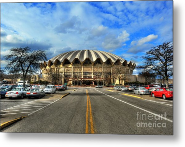 Daylight Of Wvu Basketball Coliseum Arena Metal Print