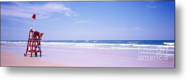Daytona Beach Fl Life Guard  Metal Print