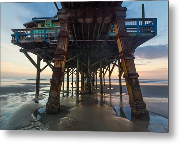 Daytona Beach Shores Pier Metal Print