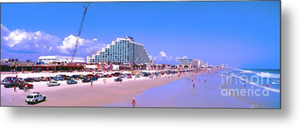 Daytona Main Street Pier And Beach  Metal Print