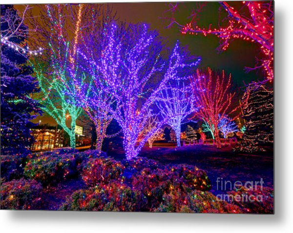 Dazzling Christmas Lights Metal Print