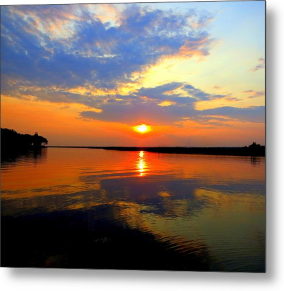 Dazzling End Of The Day Metal Print