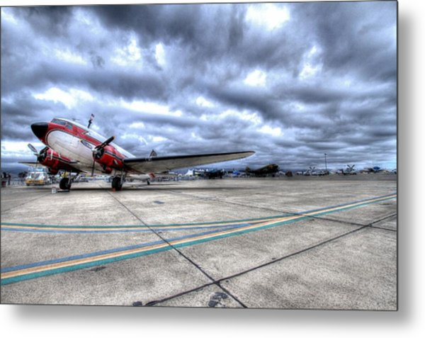 Dc3 And C47 Among The Mustangs At Salinas Air Show Metal Print by John King
