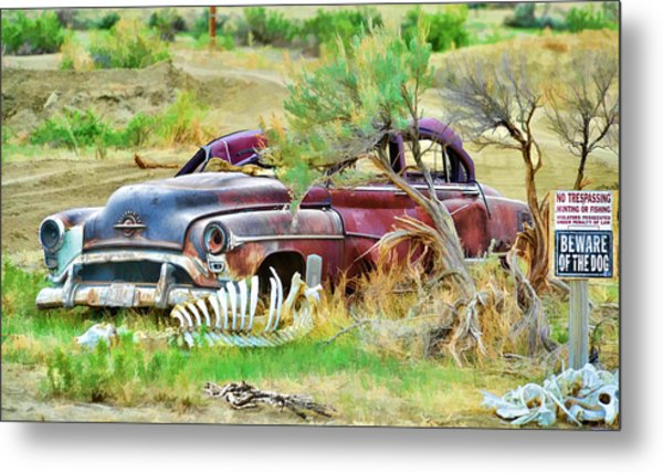 Metal Print featuring the photograph Dead Car by David Armstrong