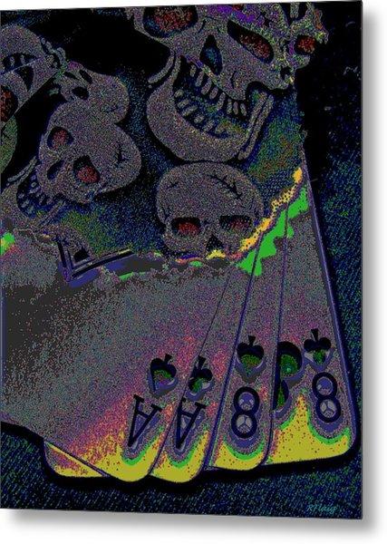 Dead Man's Hand Metal Print by Rebecca Flaig