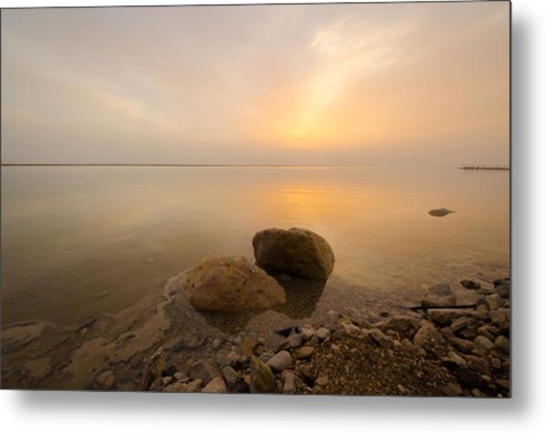 Dead Sea Sunrise Metal Print