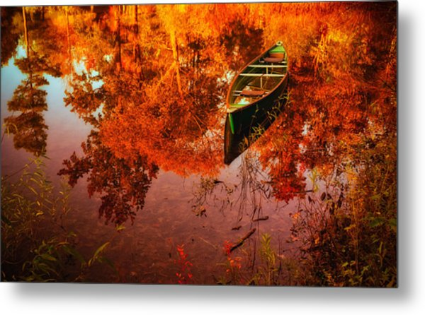 Deagol's Dinghy Metal Print by Roger Chenery