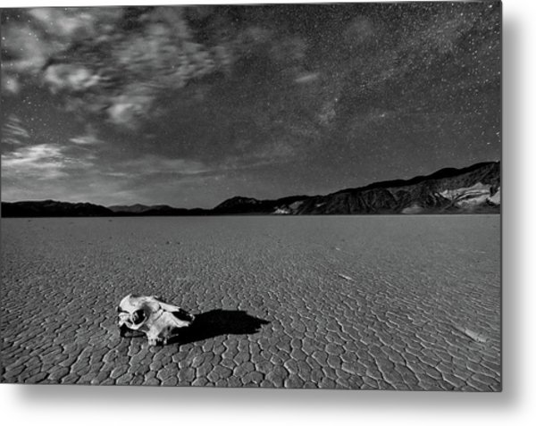 Death Valley By Moonlight Metal Print