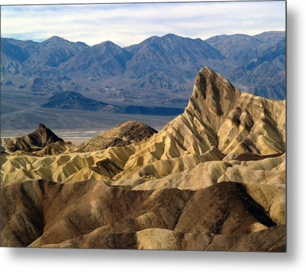Death Valley Np Zabriskie Point 11 Metal Print
