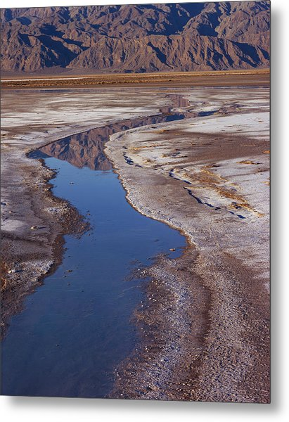 Death Valley Salt Stream 1 Metal Print