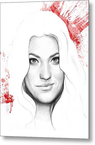Debra Morgan Portrait - Dexter Metal Print
