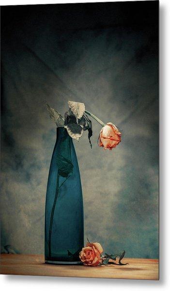 Decay - Dying Rose Metal Print