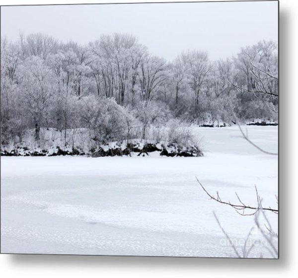 December Lake Metal Print