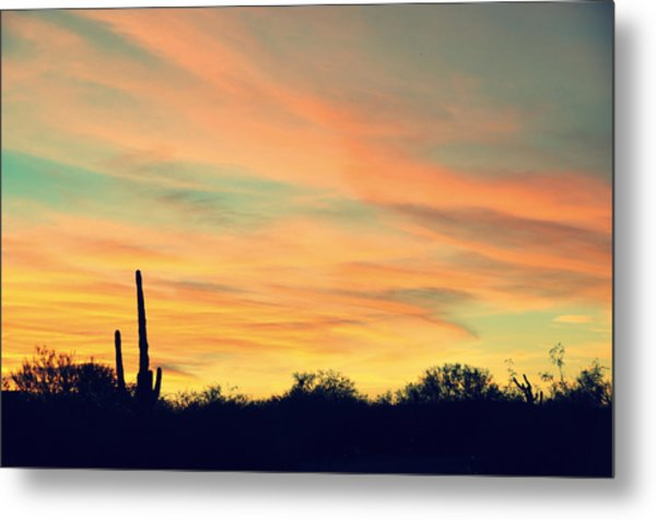 December Sunset Arizona Desert Metal Print by Jon Van Gilder
