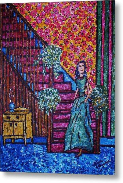 Decending Staircase Metal Print by Linda Vaughon
