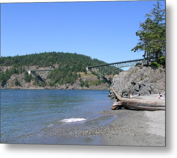 Deception Pass Bridge II Metal Print by Mary Gaines
