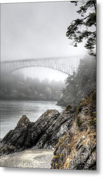Deception Pass Bridge Metal Print