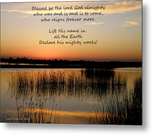 Metal Print featuring the photograph Declare His Mighty Works by Grace Dillon
