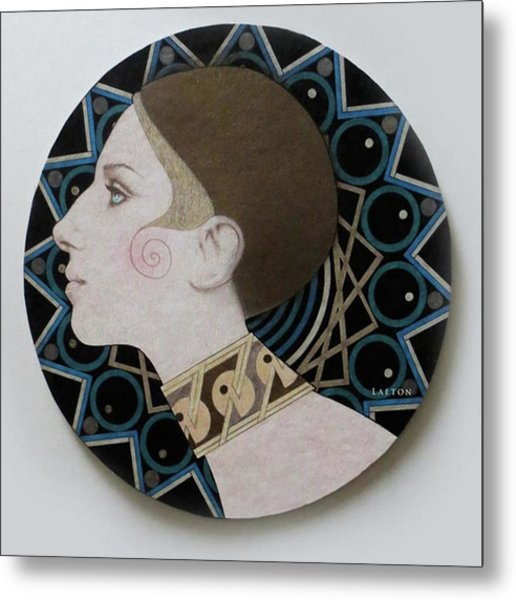 Deco Barbra Metal Print