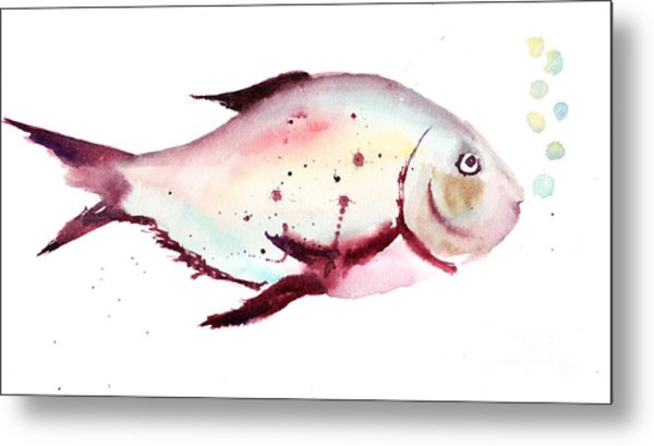 Decorative Fish Metal Print