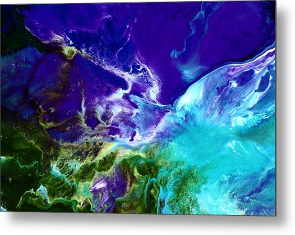Deep Blue Sea Abstract Metal Print