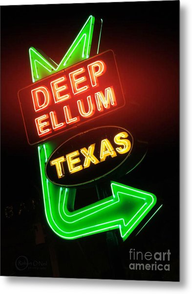 Deep Ellum Red Glow Metal Print