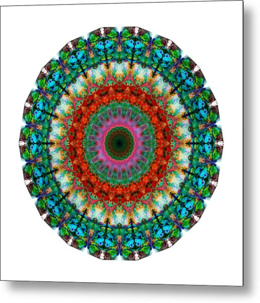 Deep Love - Mandala Art By Sharon Cummings Metal Print