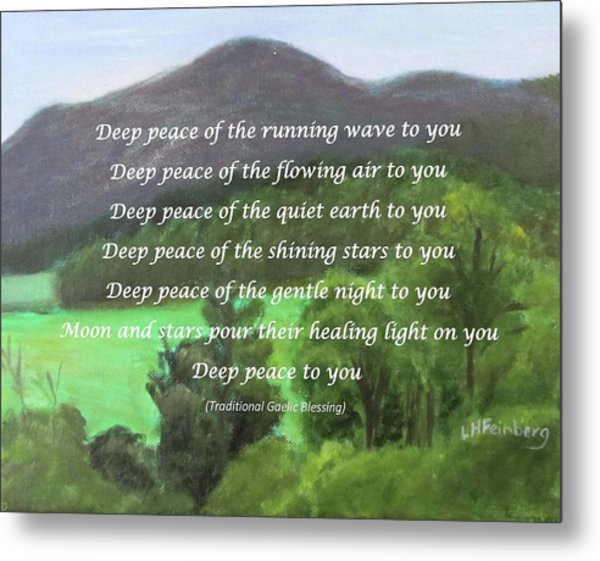 Deep Peace With Ct River Valley Metal Print