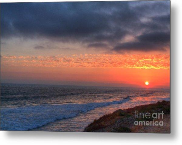Deep Red Sunset Metal Print by Deborah Smolinske