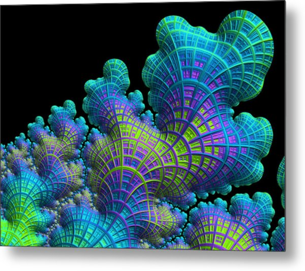 Deep Sea Coral Metal Print