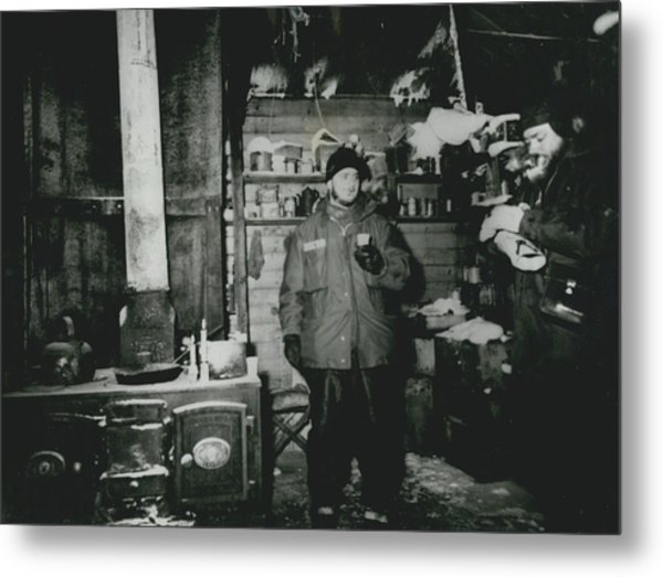 Deepfreeze Personnel Spend The Dark Cold Winter In Metal Print by Retro Images Archive