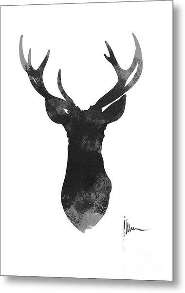 Deer Antlers Watercolor Painting Art Print Metal Print