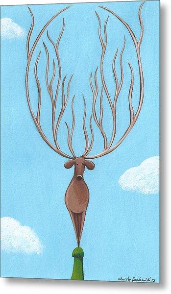 Deer Nursery Art Metal Print by Christy Beckwith