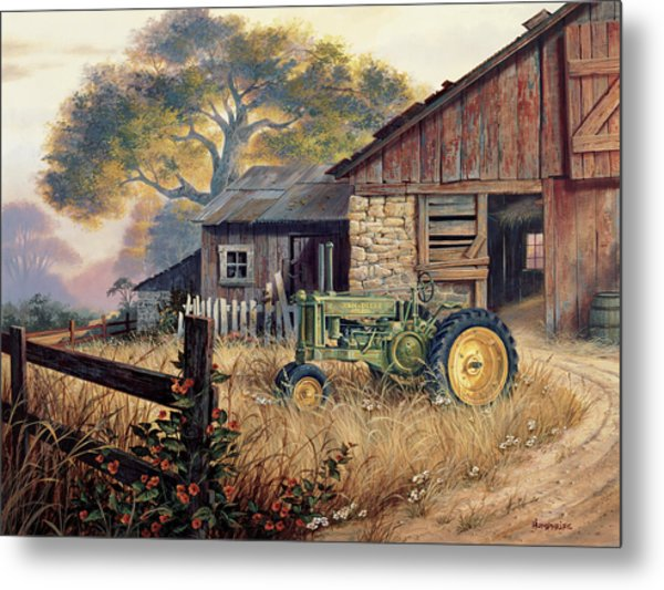 Deere Country Metal Print
