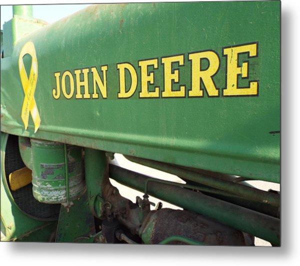 Deere Support Metal Print