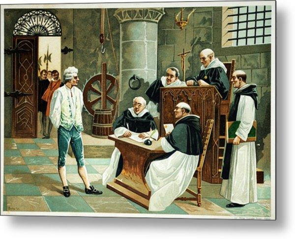 Defendant Before The Spanish Inquisition Metal Print