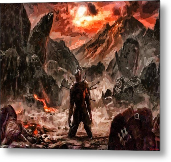 Defiant To The End Metal Print