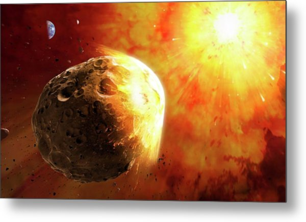 Deflecting A Near-earth Asteroid Metal Print