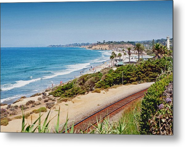 Del Mar Beach California Metal Print